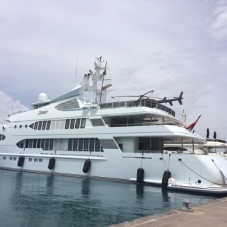 Yacht - with Fenders