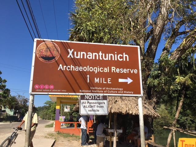 Xunantunich Sign
