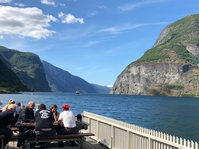 Undredal Ferry Coming