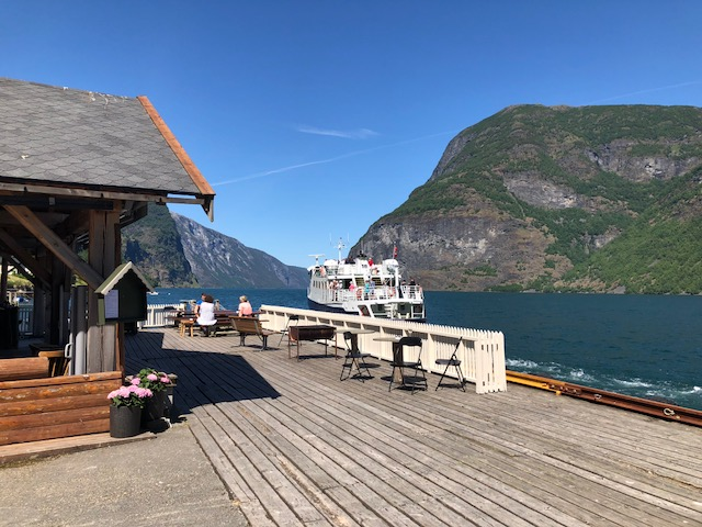 Undredal Ferry Leaving